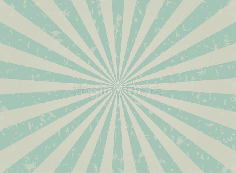 Fondo descolorado retro del grunge turquesa descolorada y fondo beige de la explosión de color Ilustración del vector stock de ilustración