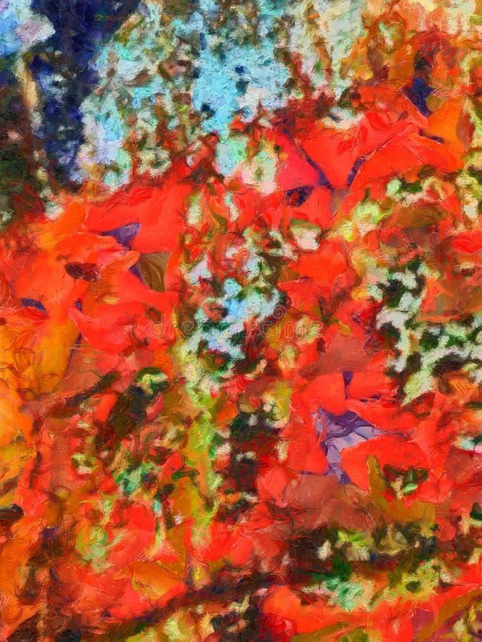 Fondo detallado del extracto del multicolor del grunge del primer Br seco ilustración del vector