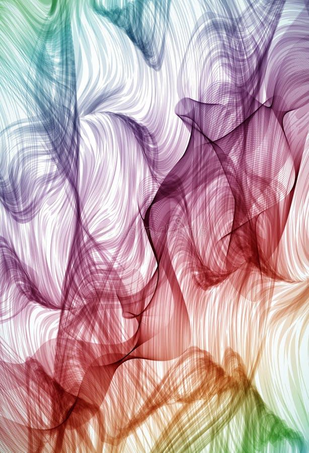 Fondo detallado drenado mano que remolina colorido stock de ilustración