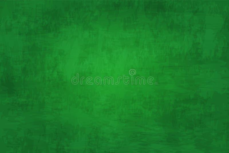 Fondo detallado ejemplo realista de la textura de la pizarra Color verde Imagen para el concepto de la educación ilustración del vector