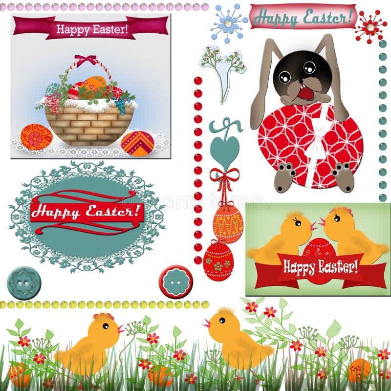Fondo determinado del libro de recuerdos de Pascua stock de ilustración