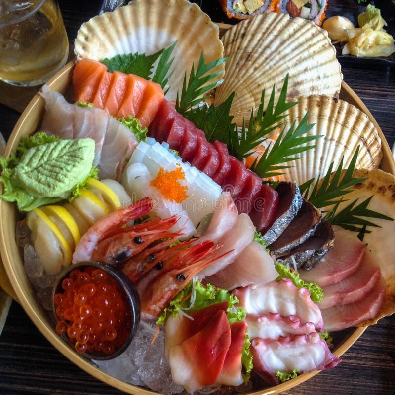 Fondo determinado del sushi japonés magnífico fotografía de archivo