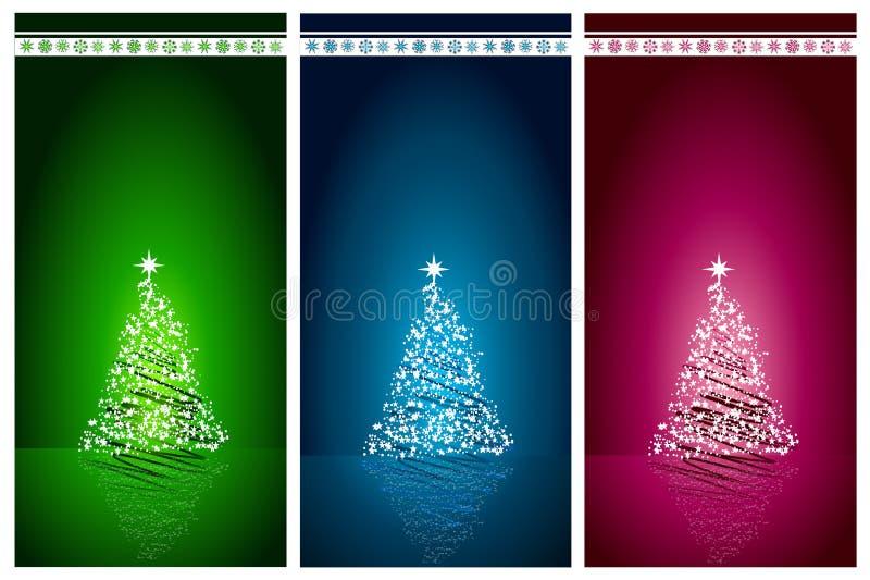 Fondo determinado del vector del árbol de navidad hermoso stock de ilustración
