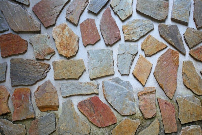 Fondo dettagliato della parete di pietra fotografia stock libera da diritti