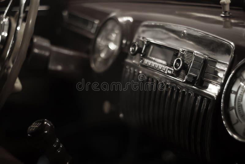 Fondo - dettaglio interno di un'automobile d'annata immagini stock libere da diritti