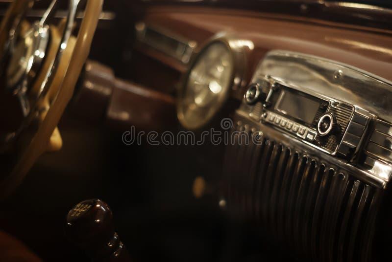 Fondo - dettaglio interno di un'automobile d'annata fotografie stock libere da diritti