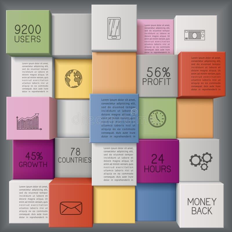 Fondo di affari con i cubi illustrazione vettoriale