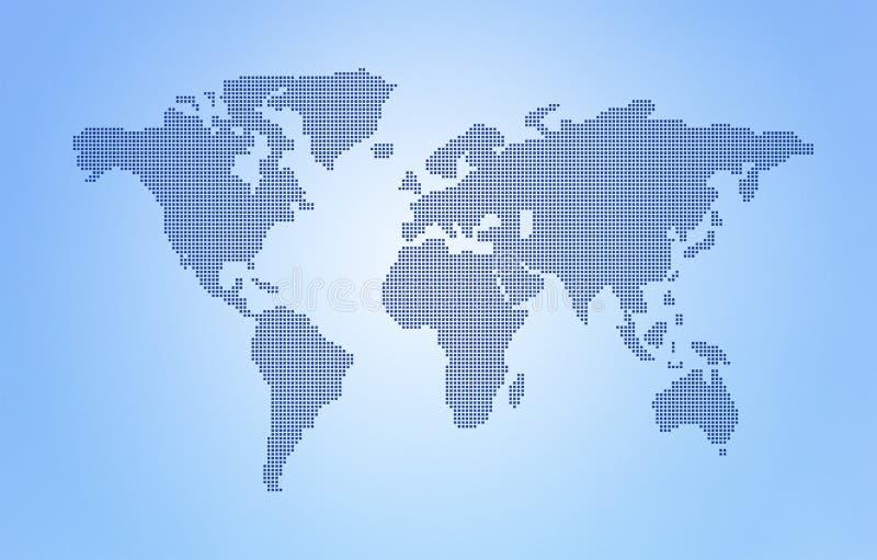 Mappa di mondo del punto fotografia stock