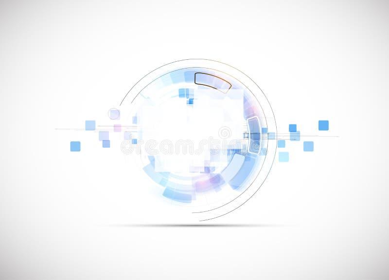 Fondo di affari di concetto di nuova tecnologia del computer di infinito illustrazione vettoriale