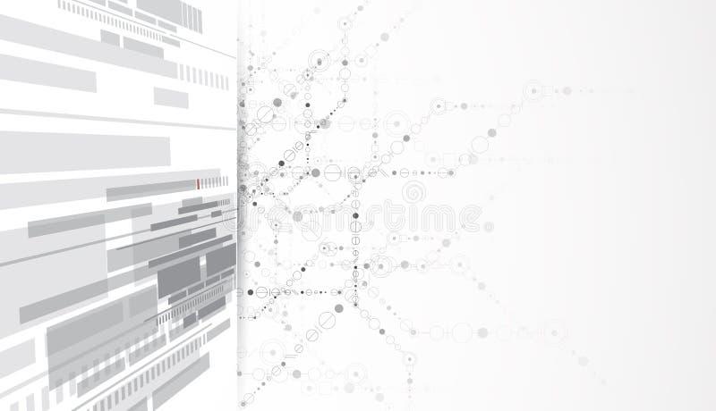 Fondo di affari di nuova tecnologia royalty illustrazione gratis