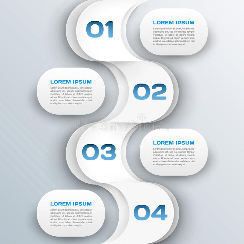Fondo di affari - modello astratto di infographics della carta 3d illustrazione di stock