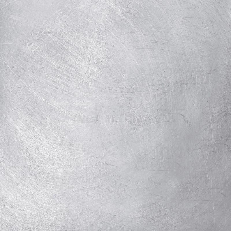 Fondo di alluminio di struttura, graffi sul modello dell'acciaio inossidabile fotografia stock