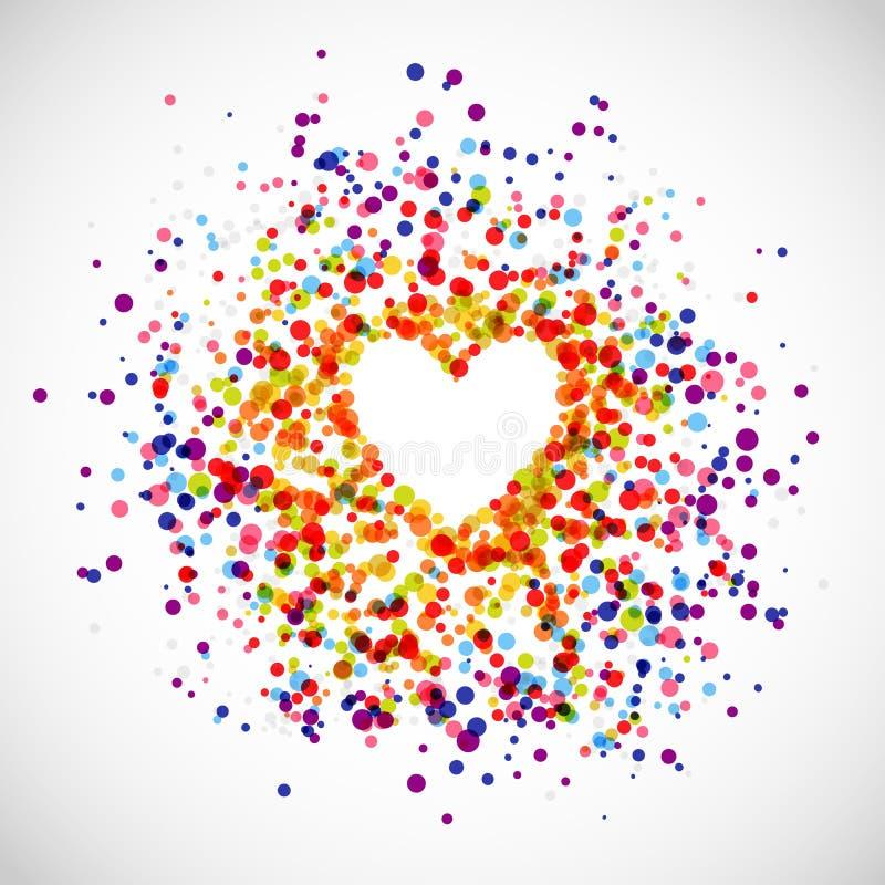 Fondo di amore dell'arcobaleno illustrazione vettoriale
