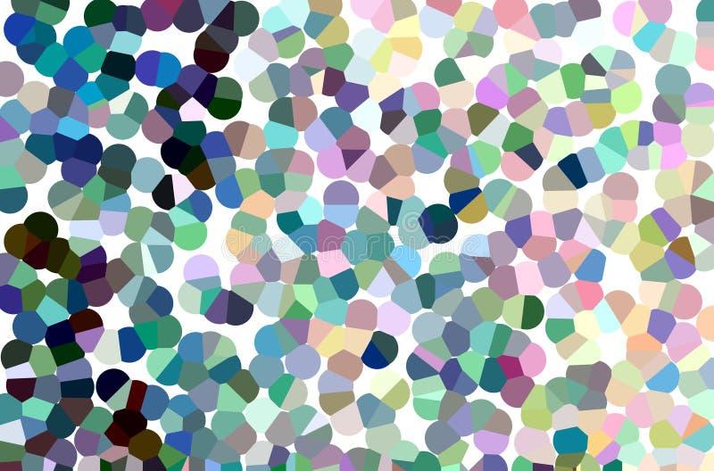Fondo di astrattismo nello stile variopinto del mosaico della bolla fotografia stock libera da diritti
