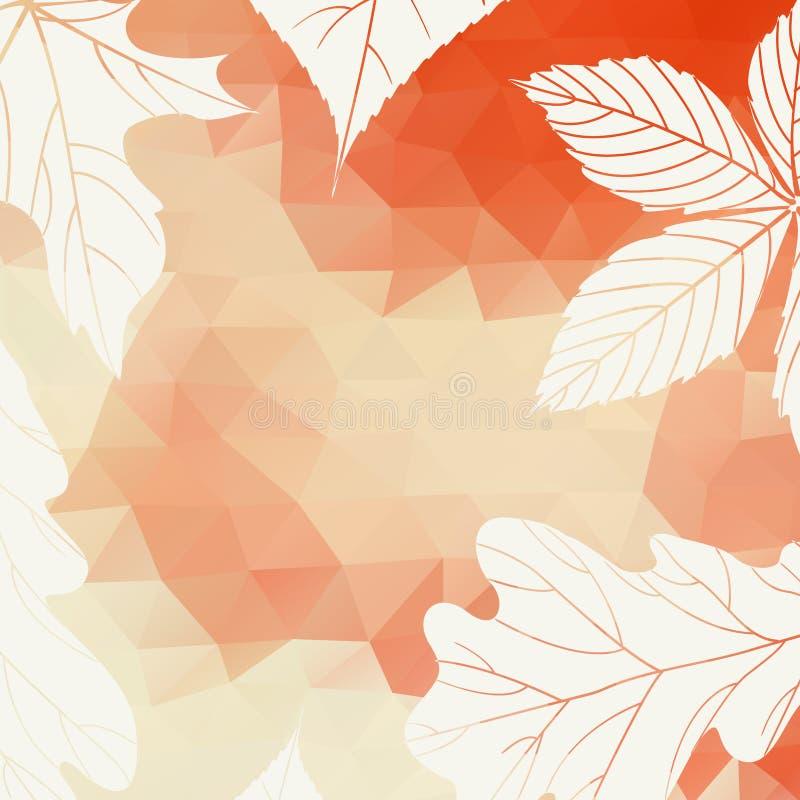 Fondo di autunno con le foglie illustrazione vettoriale