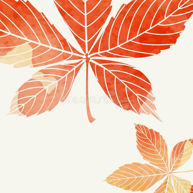 Fondo di autunno con le foglie royalty illustrazione gratis