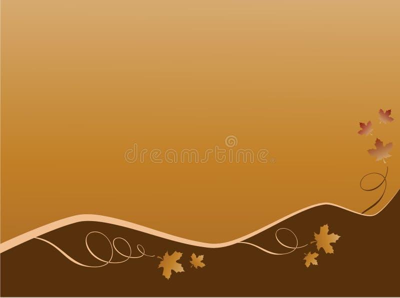 Fondo di autunno di Brown con le foglie di acero. Vettore fotografia stock