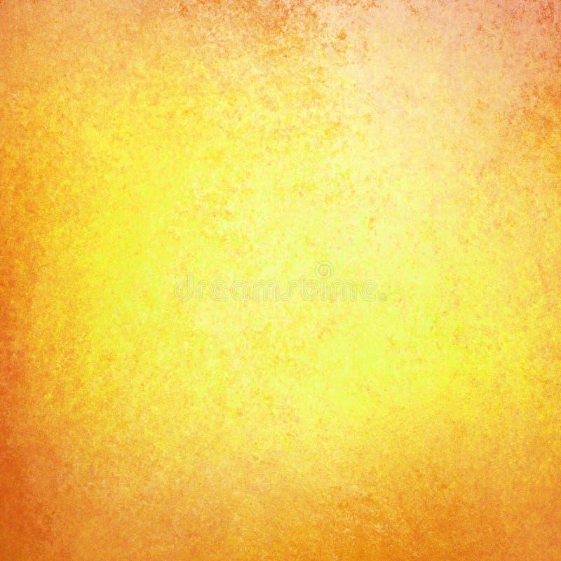 Fondo di autunno in oro giallo con struttura arancio rossa del confine di lerciume illustrazione vettoriale