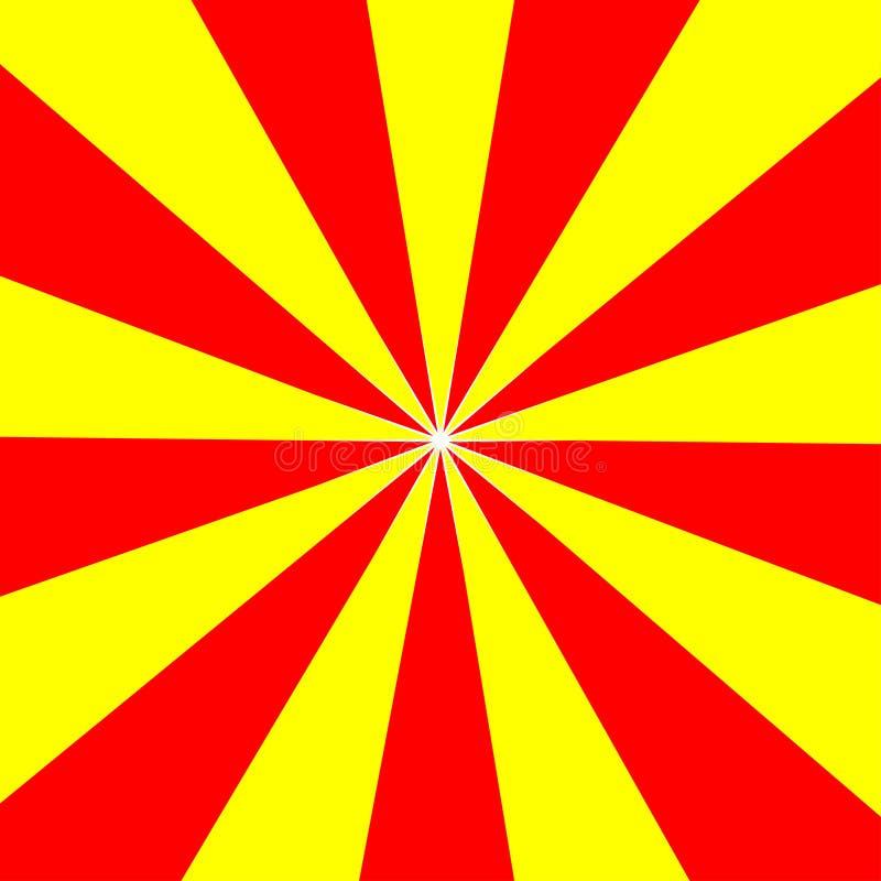 Fondo di base astratto di progettazione gialla rossa di alba royalty illustrazione gratis