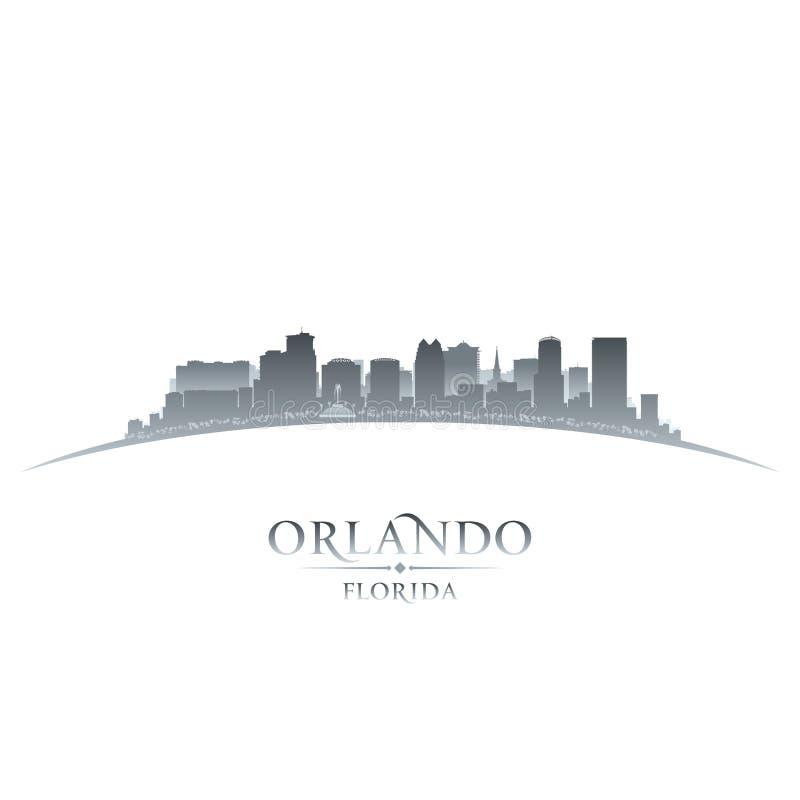Fondo di bianco della siluetta della città di Orlando Florida royalty illustrazione gratis