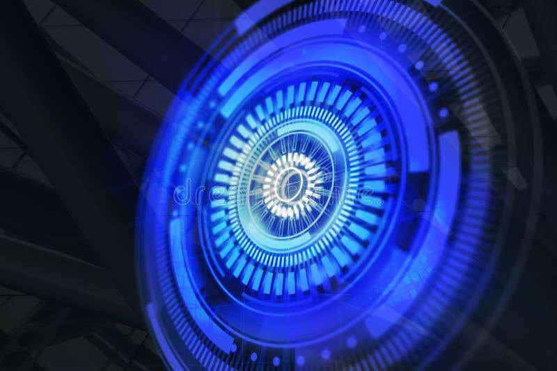 Fondo di biometria e di visione illustrazione di stock