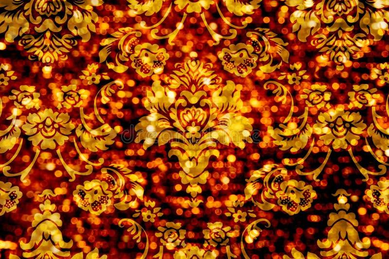 Fondo di Bokeh dell'ornamento floreale fotografia stock