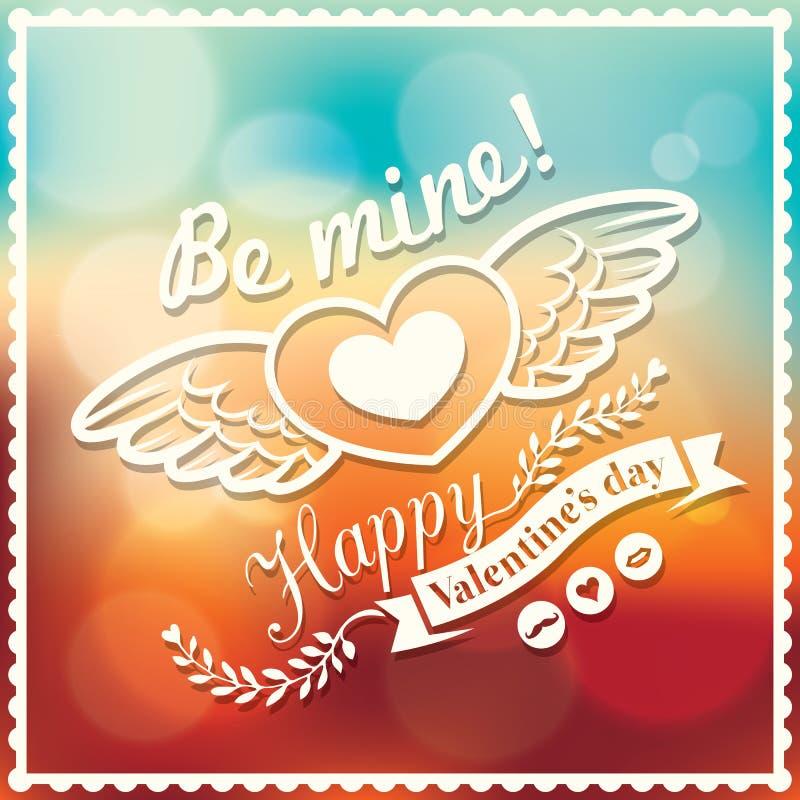 Fondo di Bokeh della partecipazione di nozze e del biglietto di S. Valentino royalty illustrazione gratis