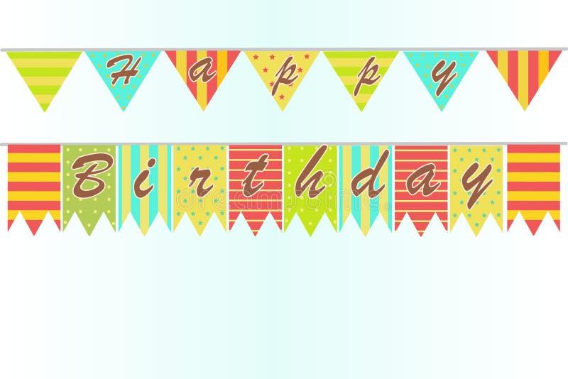 Fondo di buon compleanno illustrazione di stock