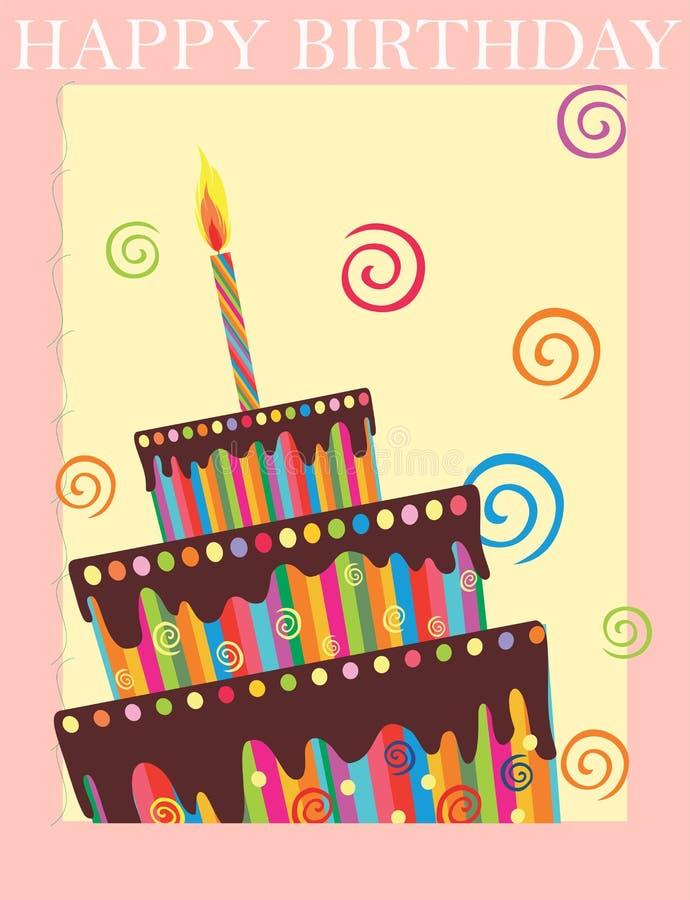 Fondo di buon compleanno illustrazione vettoriale