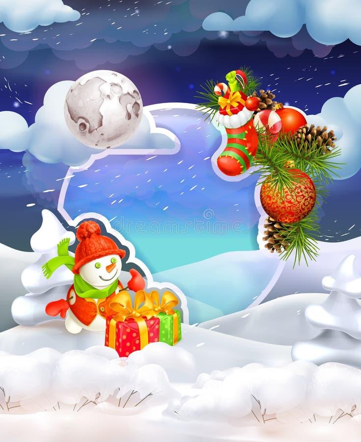 Fondo di Buon Natale illustrazione di stock