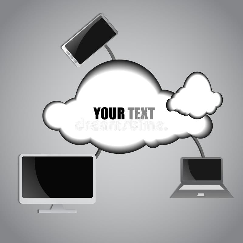 Download Fondo Di Calcolo Della Nuvola E Del Computer Illustrazione Vettoriale - Illustrazione di telefono, server: 56877126