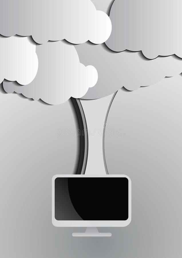 Download Fondo Di Calcolo Della Nuvola E Del Computer Illustrazione Vettoriale - Illustrazione di nubi, telefono: 56878011