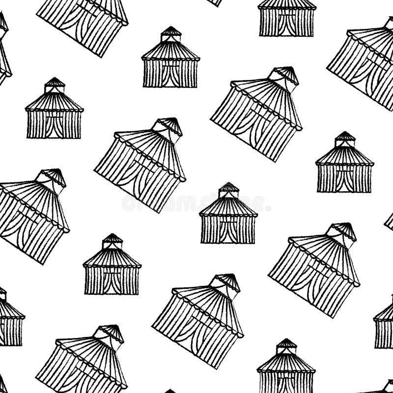 Fondo di carnevale di spettacolo della maschera di protezione di lerciume illustrazione di stock