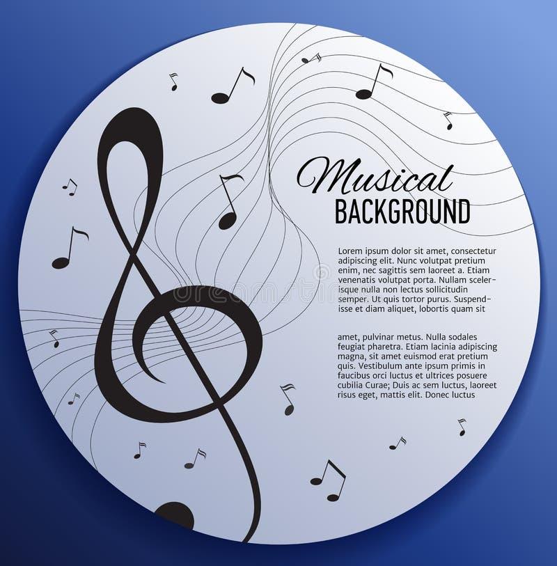 Fondo di carta con le note di musica illustrazione vettoriale