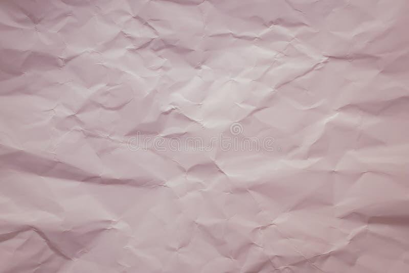 Fondo di carta crema Colore rosa pastello e morbido Struttura d'annata dello strato piegato Painted ha sgualcito la pagina, model fotografie stock libere da diritti