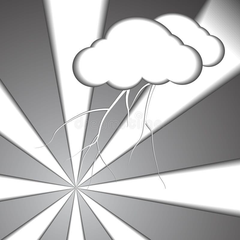 Download Fondo Di Carta Di Stile Del Bullone E Della Nuvola Illustrazione Vettoriale - Illustrazione di uragano, fumetto: 56877227