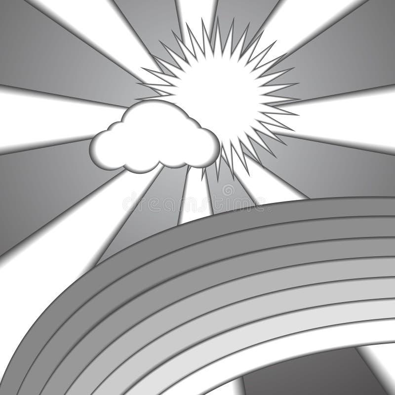 Download Fondo Di Carta Di Stile Del Sole E Dell'arcobaleno Della Nuvola Illustrazione Vettoriale - Illustrazione di manifesto, nave: 56877857
