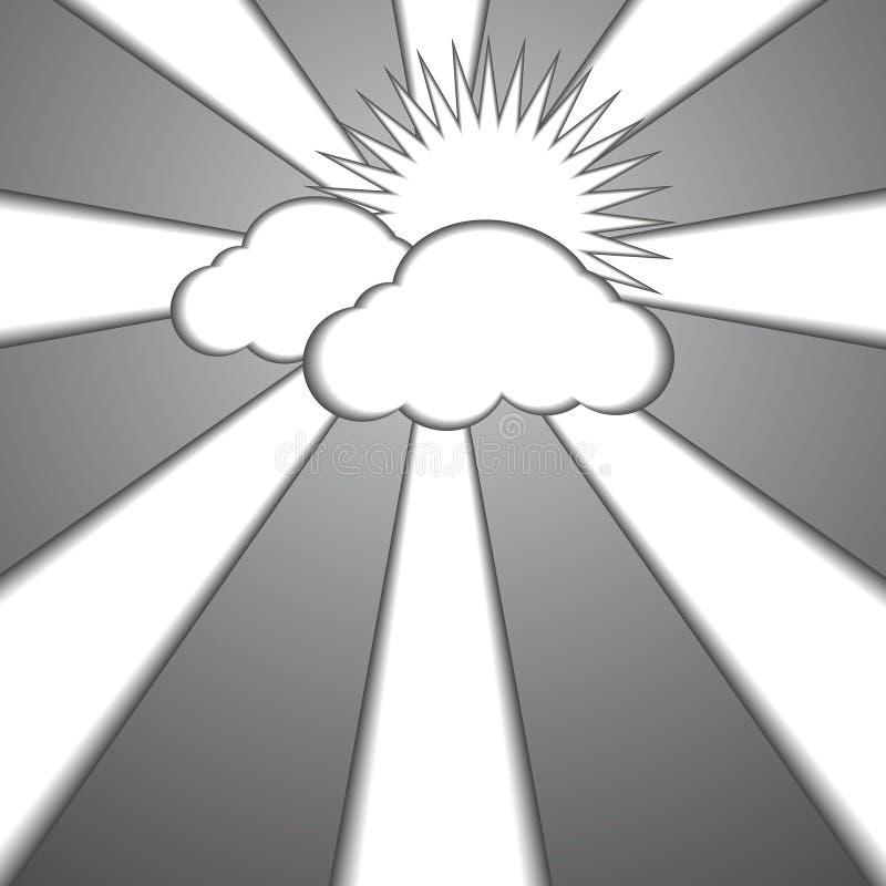 Download Fondo Di Carta Di Stile Del Sole E Della Nuvola Illustrazione Vettoriale - Illustrazione di fumetto, decorazione: 56877251