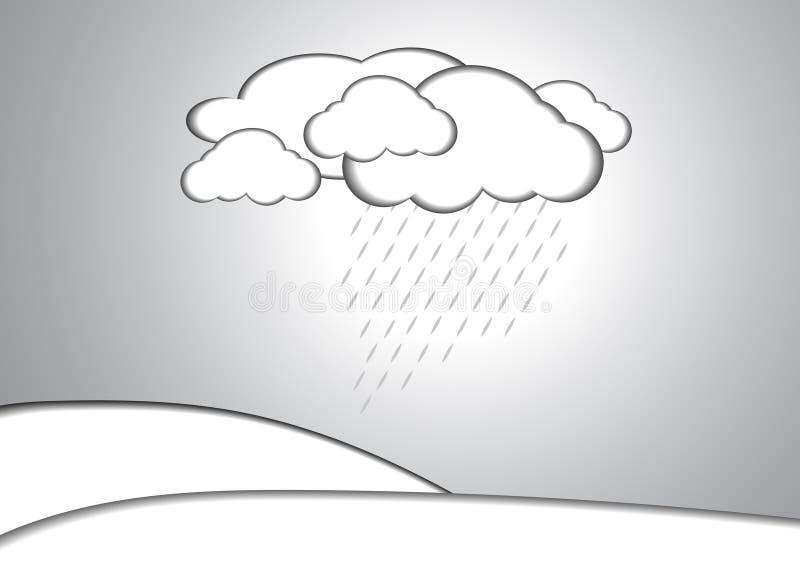 Download Fondo Di Carta Di Stile Della Pioggia E Della Nuvola Illustrazione Vettoriale - Illustrazione di decorazione, carta: 56877916
