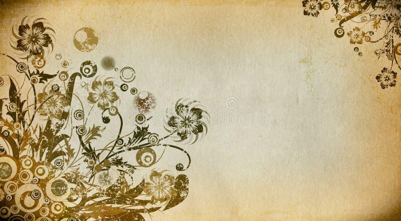 Fondo di carta floreale di lerciume illustrazione di stock