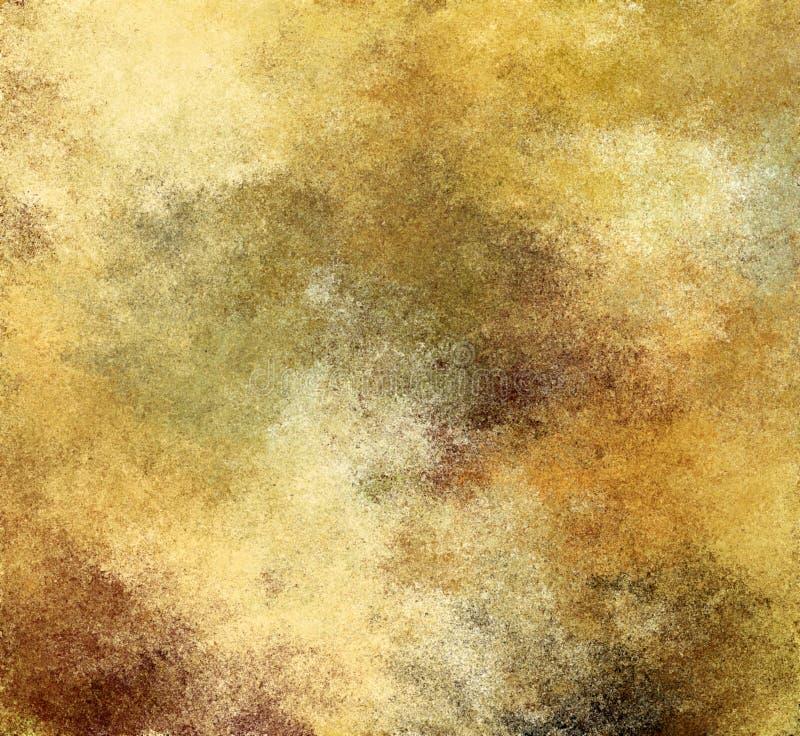 Fondo di carta giallo rustico dell'estratto della pittura di Digital vecchio fotografia stock