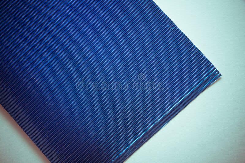 Fondo di carta metallizzato blu fotografia stock