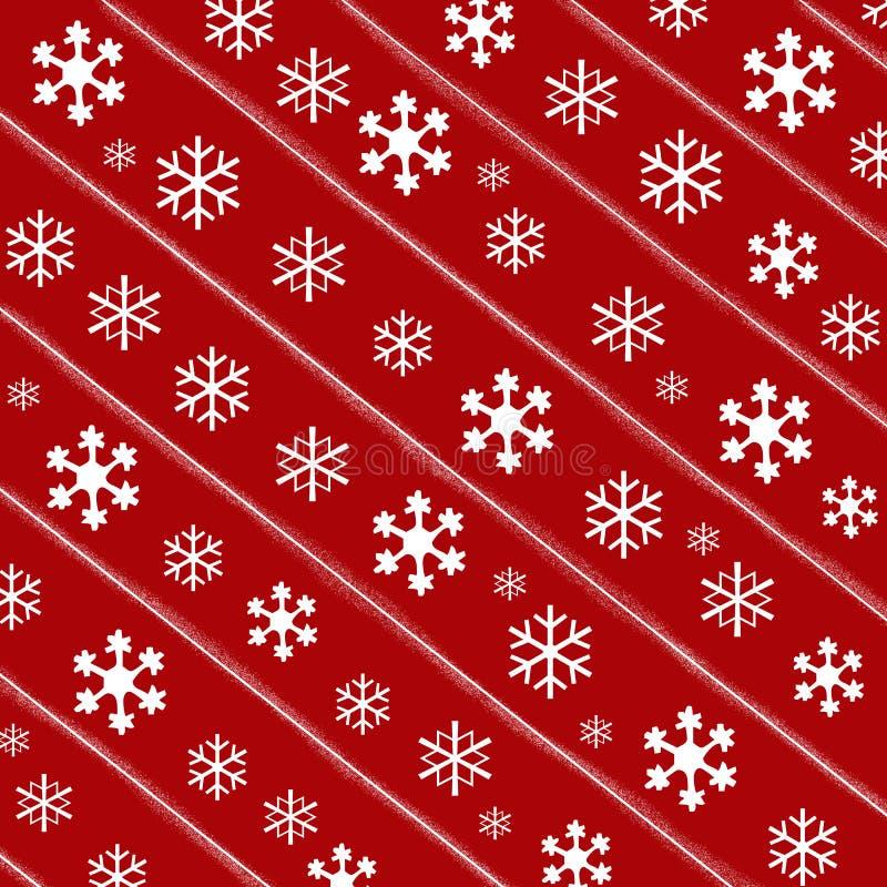 Fondo di carta di Natale rosso illustrazione vettoriale