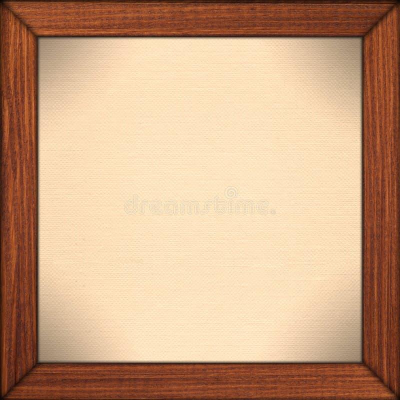 Fondo di carta nel telaio di legno marrone fotografie stock libere da diritti