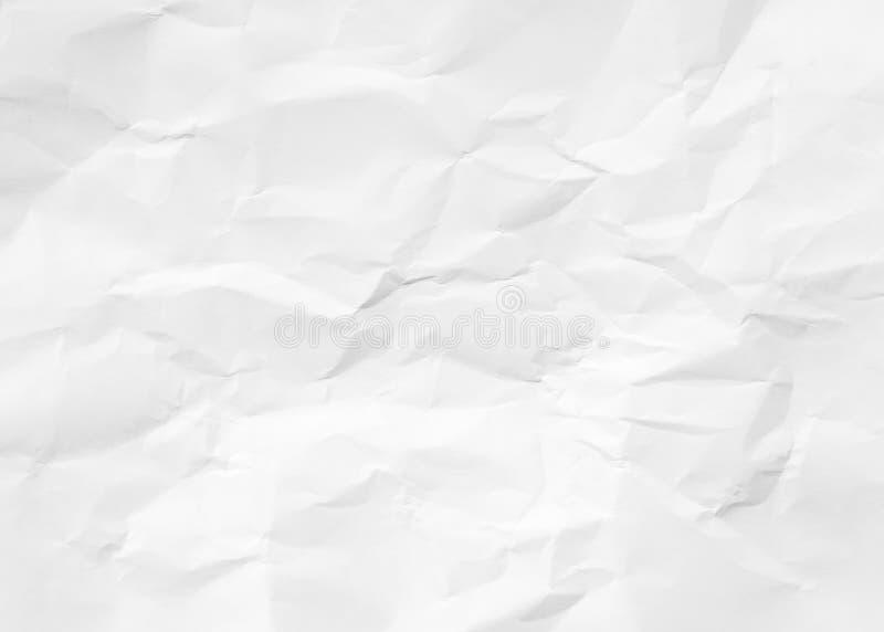 Fondo di carta sgualcito del pavimento di struttura vista superiore corrugata della pittura pastello bianca della copertina di li fotografia stock