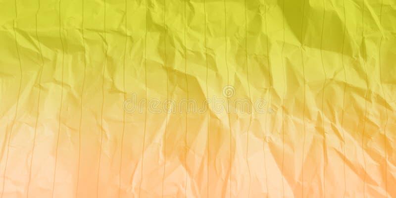 Fondo di carta sgualcito di effetti di colori di colore giallo sabbia della banana dell'estratto multi fotografia stock