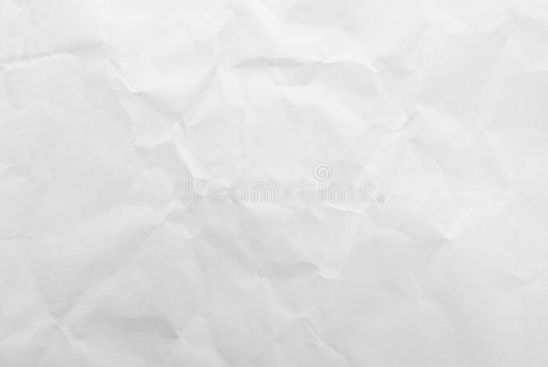 Fondo di carta di struttura sgualcito bianco Primo piano fotografie stock libere da diritti