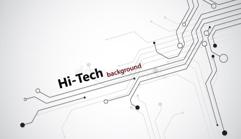 fondo di Ciao-tecnologia illustrazione vettoriale