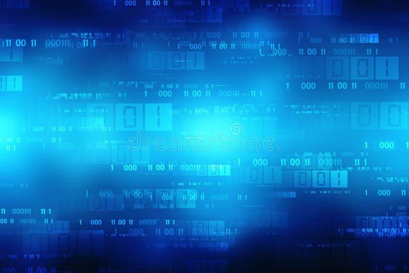Fondo di codice binario, fondo astratto di tecnologia di Digital fotografie stock