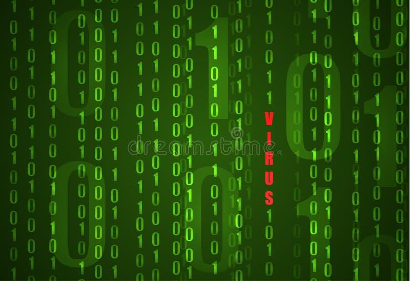 Guasto Del Sistema Con Il Fondo Cyber Di Codice Binario ...